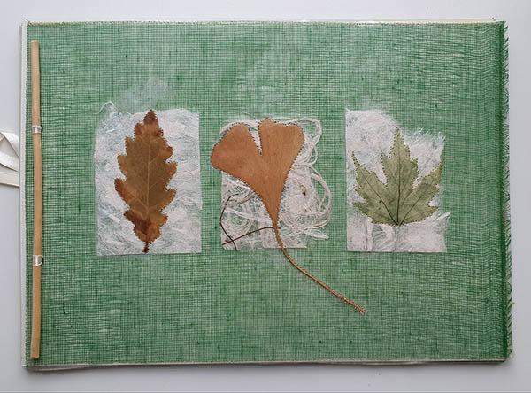Carnet de voyage / Album de souvenirs papier végétal