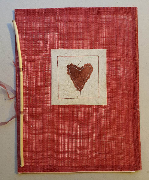 Cahier textile + papier végétal