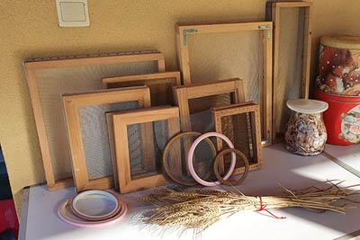 stages fabrication papier végétal - atelier